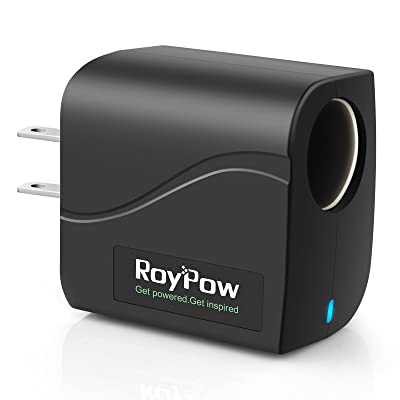 RoyPow Power Supply Converter Transformer 24W 12V2A AC to DC Adapter 110V/120V to 12V Car Cigarette Lighter Socket: Automotive