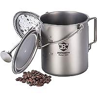 Bestargot Kubek kempingowy z tytanu, pojemność maks. 750 ml, z tytanu, naczynia na kemping, do kawy, duża pojemność…
