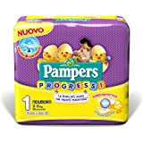 Pampers Progressi Pannolini Newborn, Taglia 1 (2-5 kg), 1 Pacco da 28 Pezzi