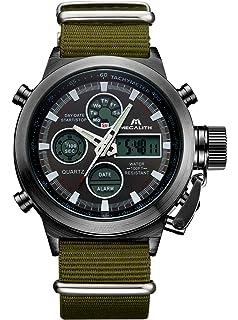 Reloj Hombres Reloj Deportivo Digital Militar de Gran Rostro Hombres Reloj Impermeable Digital LED de Alarma