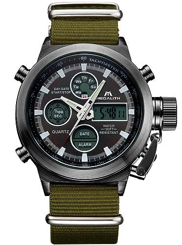 Reloj Hombres Reloj Deportivo Digital Militar de Gran Rostro Hombres Reloj Impermeable Digital LED de Alarma para Hombre con cronógrafo Reloj Deportivo ...