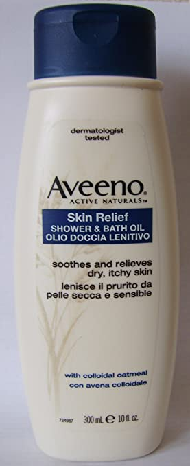 Aveeno Skin Relief Shower Bath Oil With Colloidal Oatmeal Dry Itchy 300ml