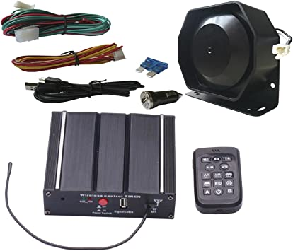 Amazon Com As 100w Police Car Siren Speaker System With Wireless Remote Microphone Wiring Harness Auxiliary Light Terminals 20 Tones Fit For Police Fire Ambulance Engineer Volunteer Vehicles As71005 Spk0021 Automotive