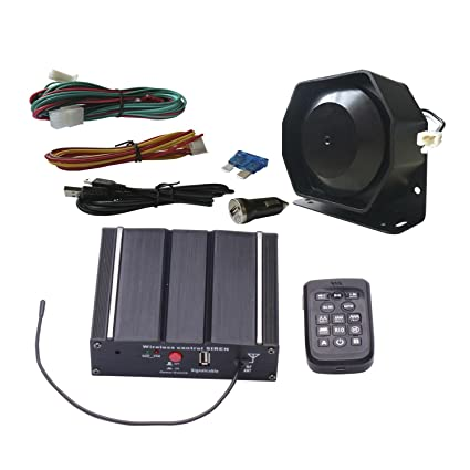 amazon com as 100w police car siren speaker system with wireless funny wiring harness as 100w police car siren speaker system with wireless remote microphone wiring harness auxiliary light terminals