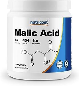 Nutricost Malic Acid Powder 1 LB (16oz) - Gluten Free, Non-GMO (454 Grams)