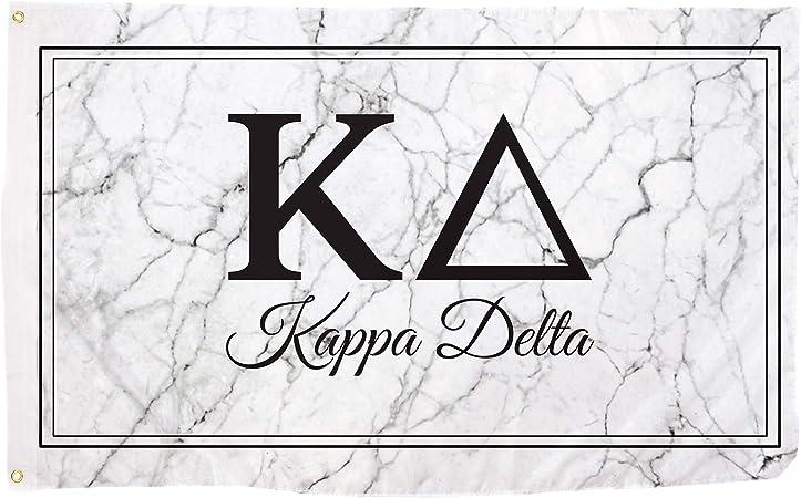 Kappa Delta Marble Box Letter Sorority Flag Banner 3 x 5