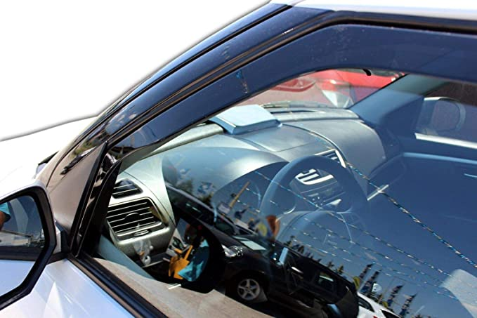 J/&J AUTOMOTIVE Windabweiser Regenabweiser f/ür Ranger 4-t/ürer ab 2012 2tlg HEKO dunkel