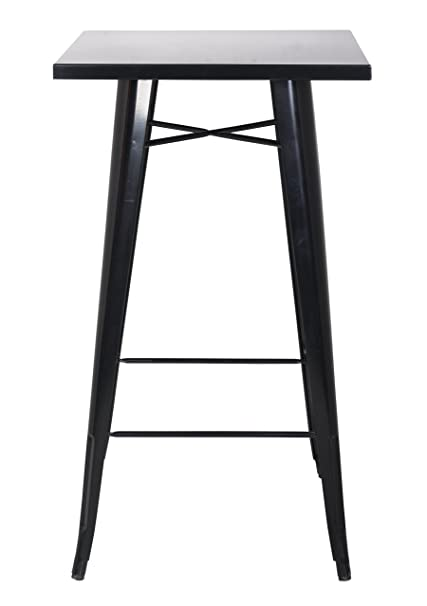 Charmant Chintaly Imports Galvanized Steel Bar Table, Black