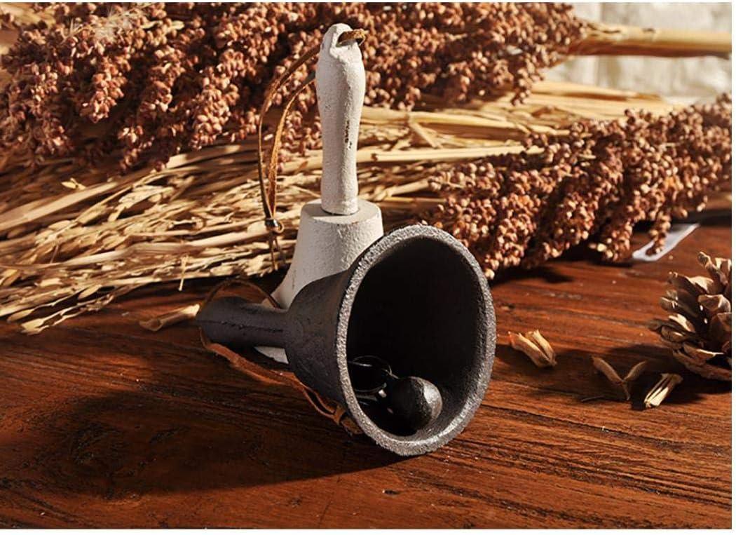 Kacniohen Weihnachten zu Hause Dekoration Gusseisen Abendessen Glocke Handglocke h/ängen Glocke Retro Restaurant bar wei/ß