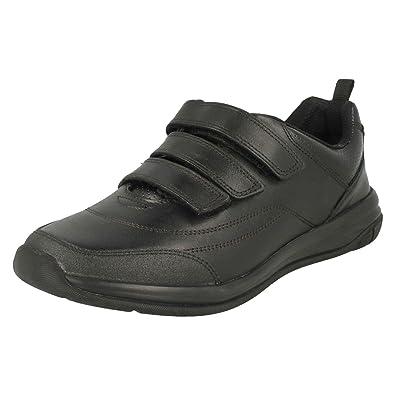 8fa49038042f Clarks Hula Thrill Boys Bootleg Triple Rip Tape School Shoes 7 F UK Black