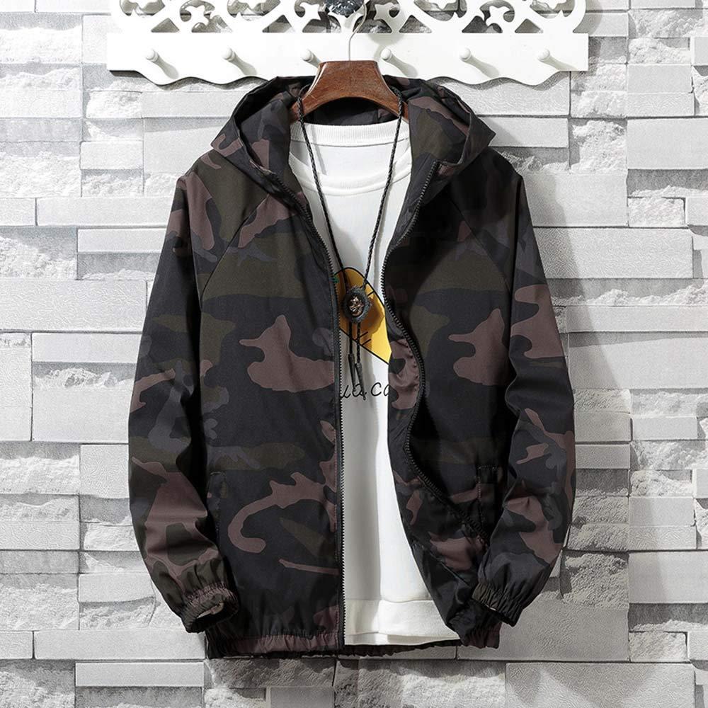 Amazon.com: Teresamoon Mens Autumn Winter Zip Camouflage Long Sleeve Pocket Sport Hoodies Jacket Coat: Home & Kitchen