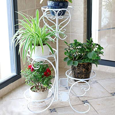 LRW Tieyi Multilayer Indoor Flower Stand Balcony Flower Stand Living Room Flower Stand Floor Stand: Garden & Outdoor