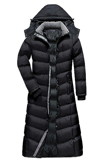 74b4ded62b0 Amazon.com  U2Wear Women s Maxi Plus-Size Water Resistant Puffer Full Length  Coat with Hood  Clothing