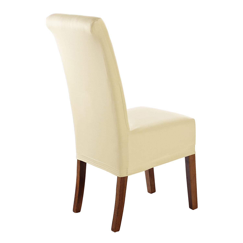 SCHEFFLER-Home Marie 2 Fundas de sillas, Estirable Cubiertas de la sillas, extraíble elástica Funda Repelente al Agua, con Banda elástica, Altura del ...