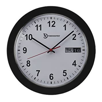 Amazoncom Timekeeper Meridian Office Wall Clock With White Face