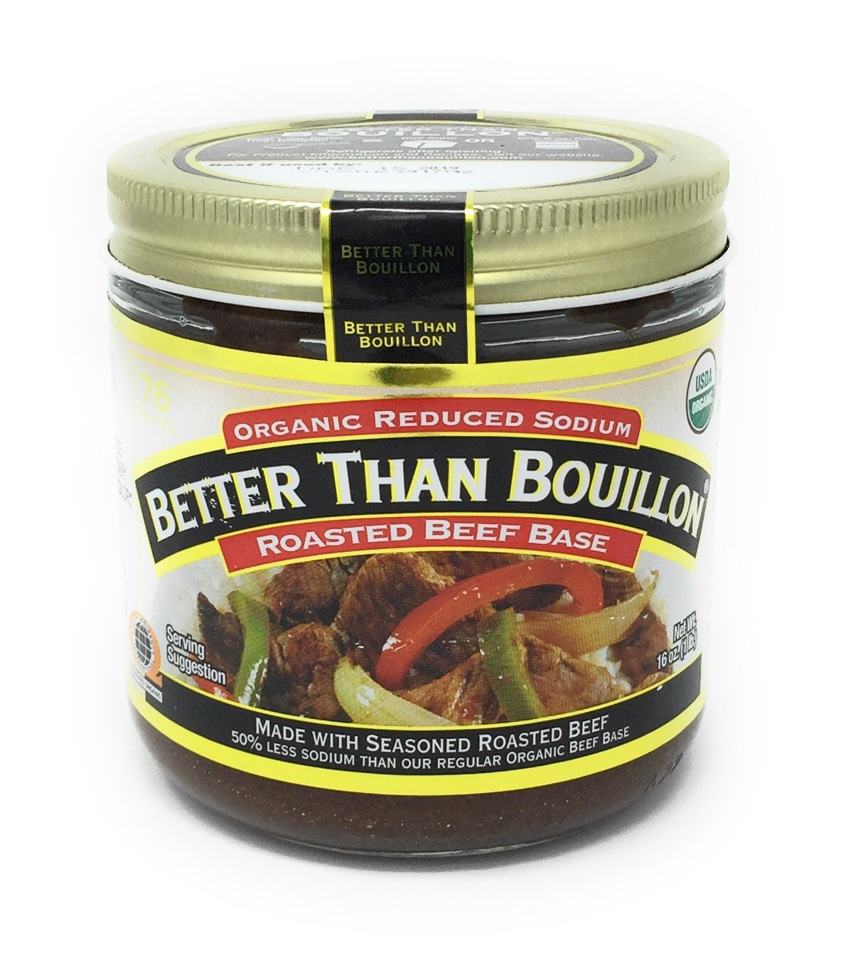Better Than Bouillon Organic Roasted Beef Base,16 Ounce Reduced Sodium