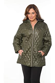 a0bfade2243 Amazon.com  The Plus Project Women s Plus Size Quilted Puffer Jacket ...