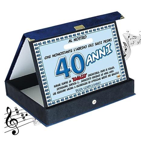 Targa premio compleanno sonora 40 anni amico| Articolo, idee