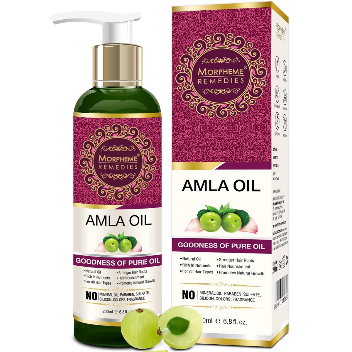Morpheme Pure Amla Hair Oil (ColdPressed & Undiluted) 200ml