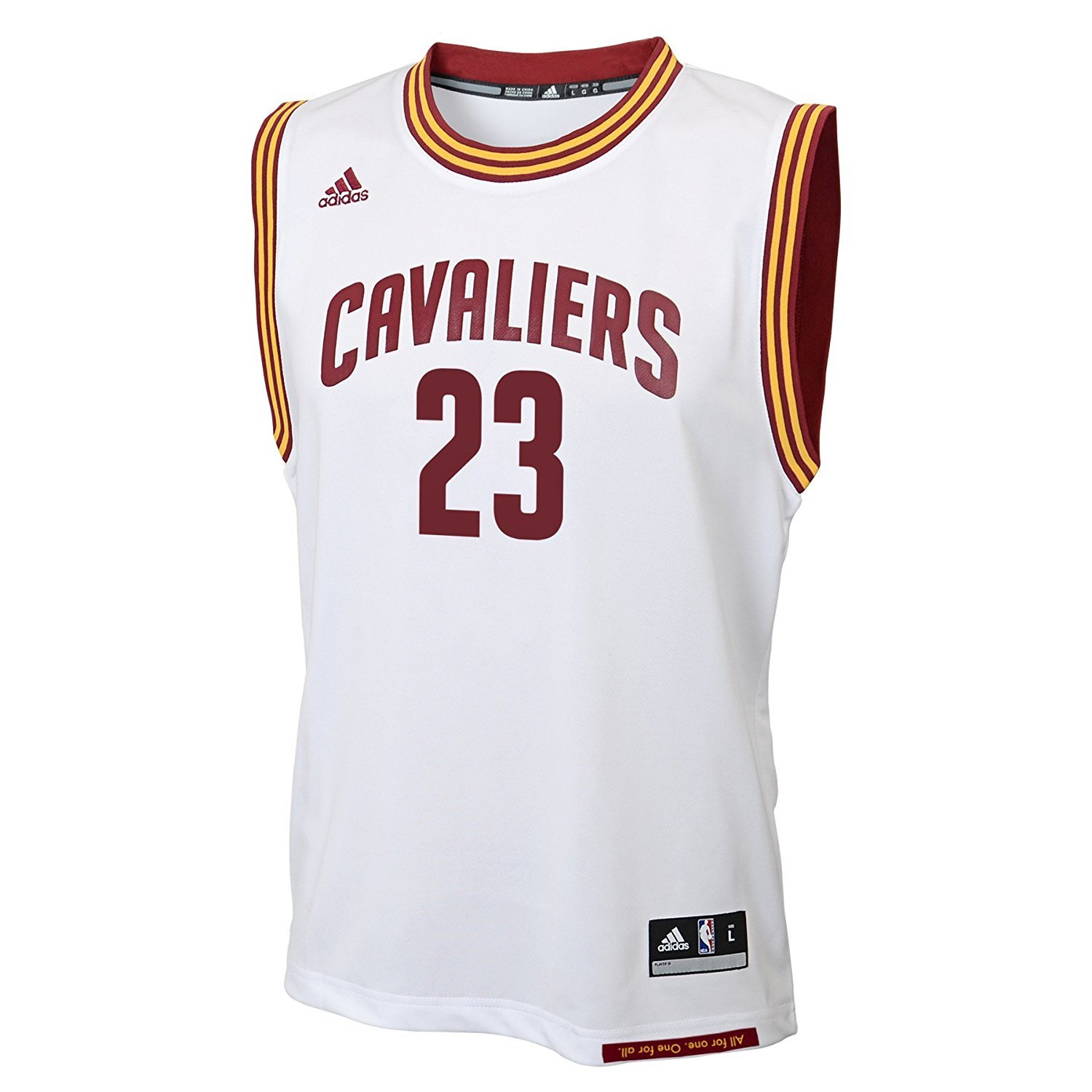 LeBron James Cleveland Cavaliers NBA Adidas Youth White Home Replica Jersey (Size Medium 10-12)