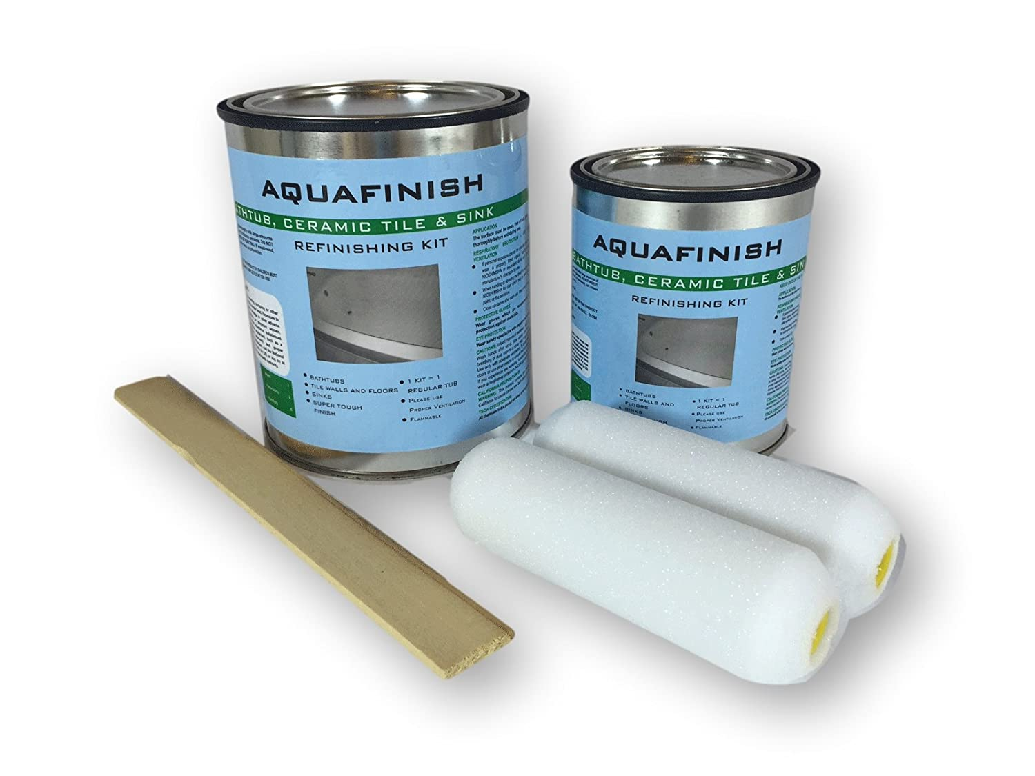 Amazon.com: AquaFinish 32 oz Bathtub Refinishing Kit, COATING ONLY ...