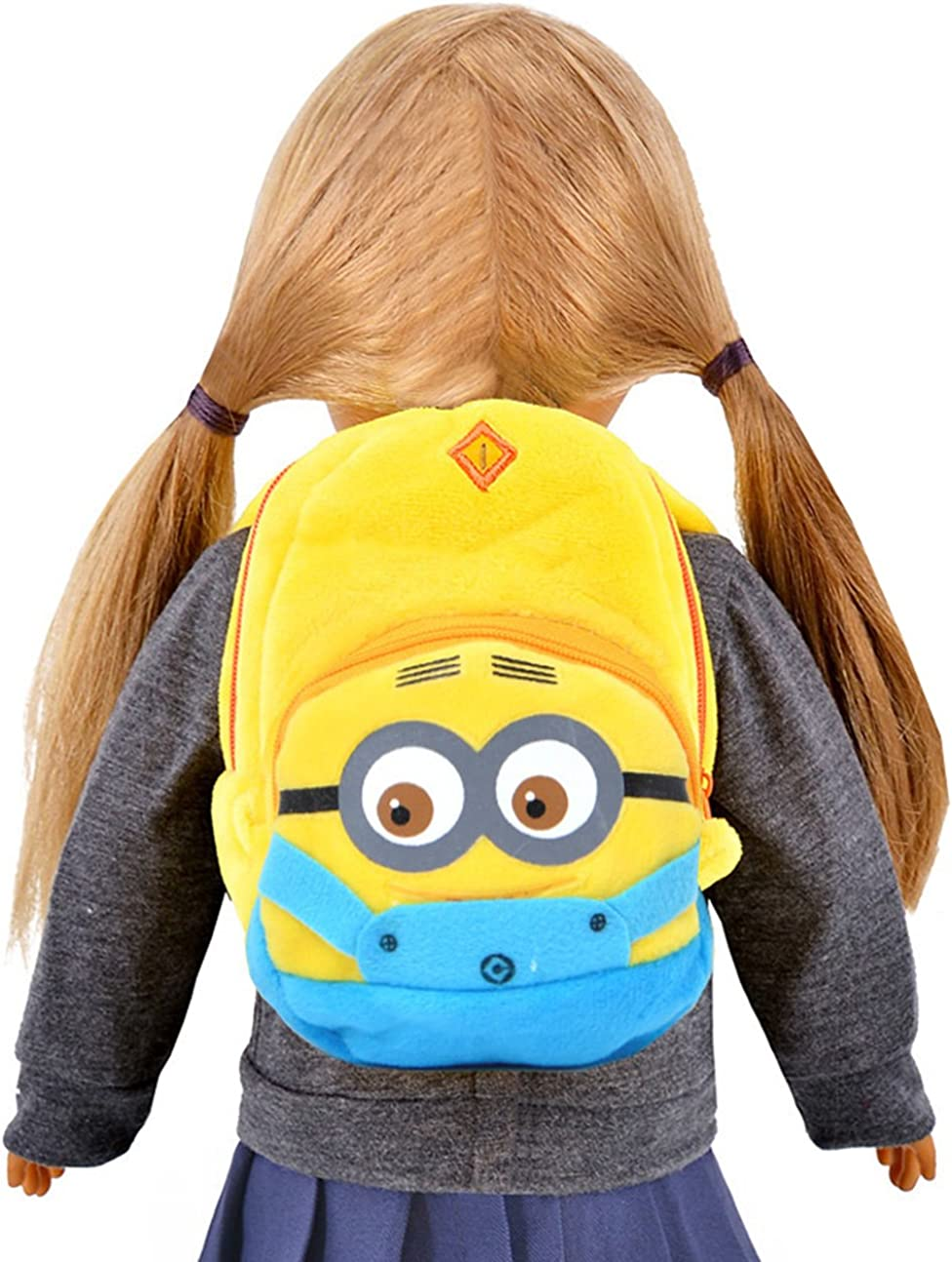 Ebuddy Minions Cartoon Backpack Schoolbag Doll Accessory For 18 inch American Girl