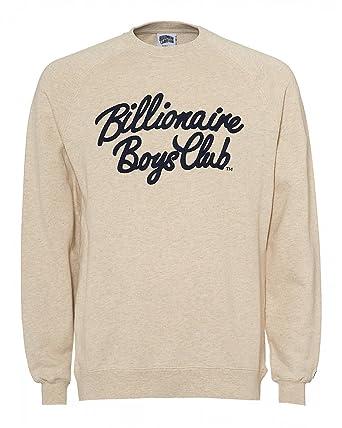 3ee26743c Billionaire Boys Club Mens Script Logo Crew Neck Sweatshirt L OATMARL:  Amazon.co.uk: Clothing