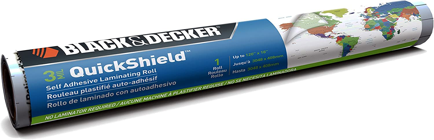 Single Sided 16-Inches x 10-Foot Roll New Scotch Self-Seal Laminating Sheets