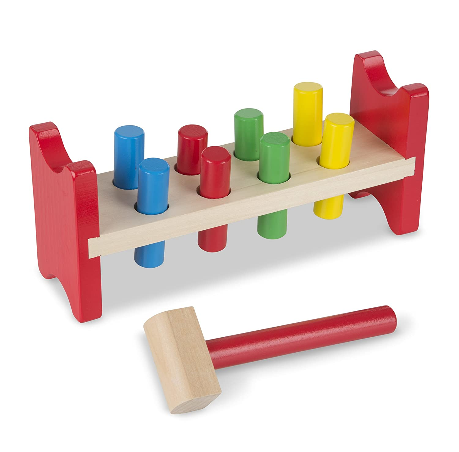 Amazon Melissa & Doug Deluxe Wooden Pound A Peg Toy With