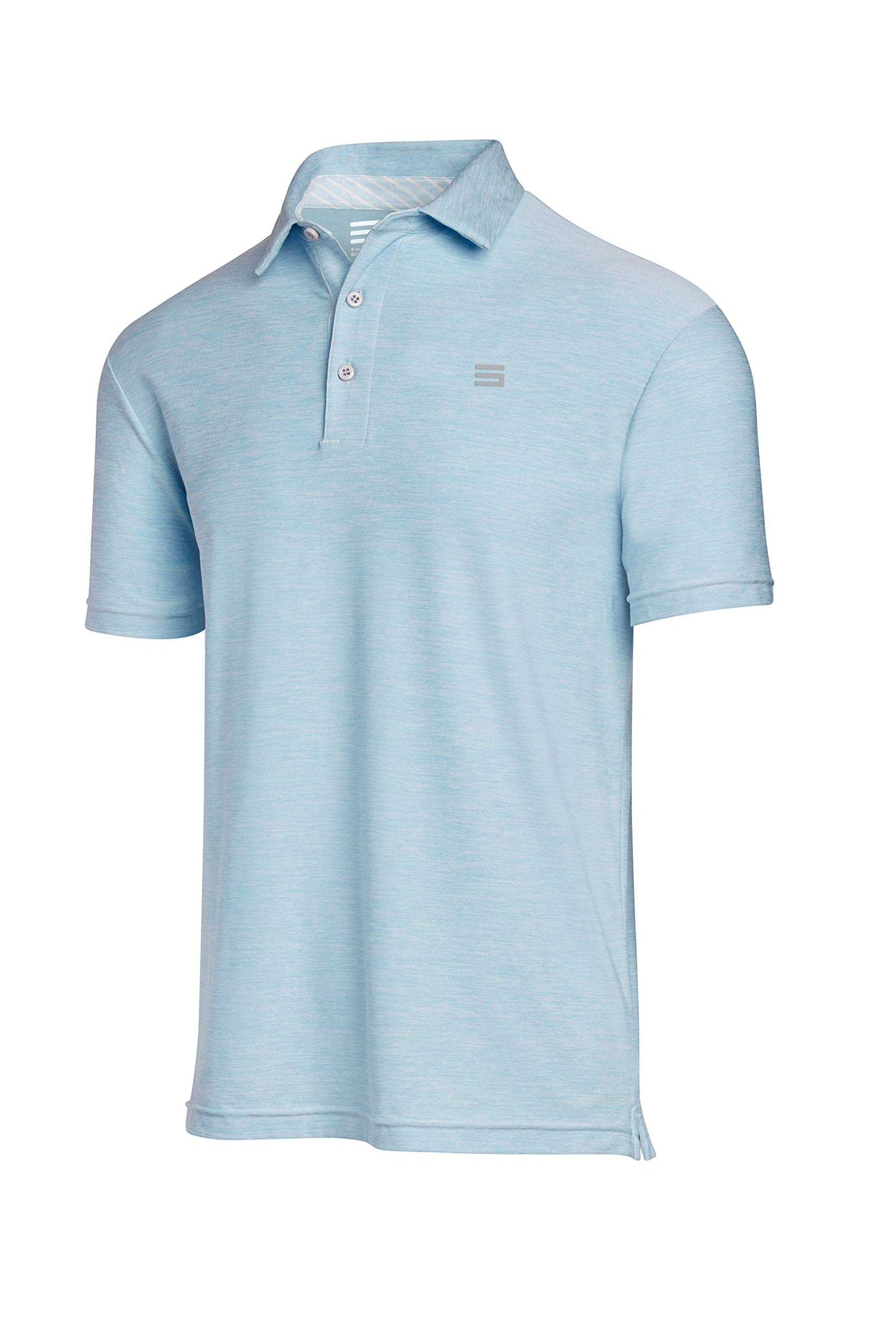 Three Sixty Six Golf Shirts for Men - Dry Fit Short-Sleeve Polo, Athletic Casual Collared T-Shirt Sky Blue by Three Sixty Six