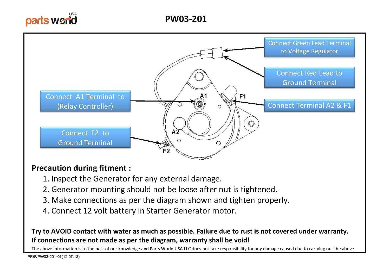 G16-G22 Starter Generator for Yamaha Golf Carts G16 G17 G18 ... on