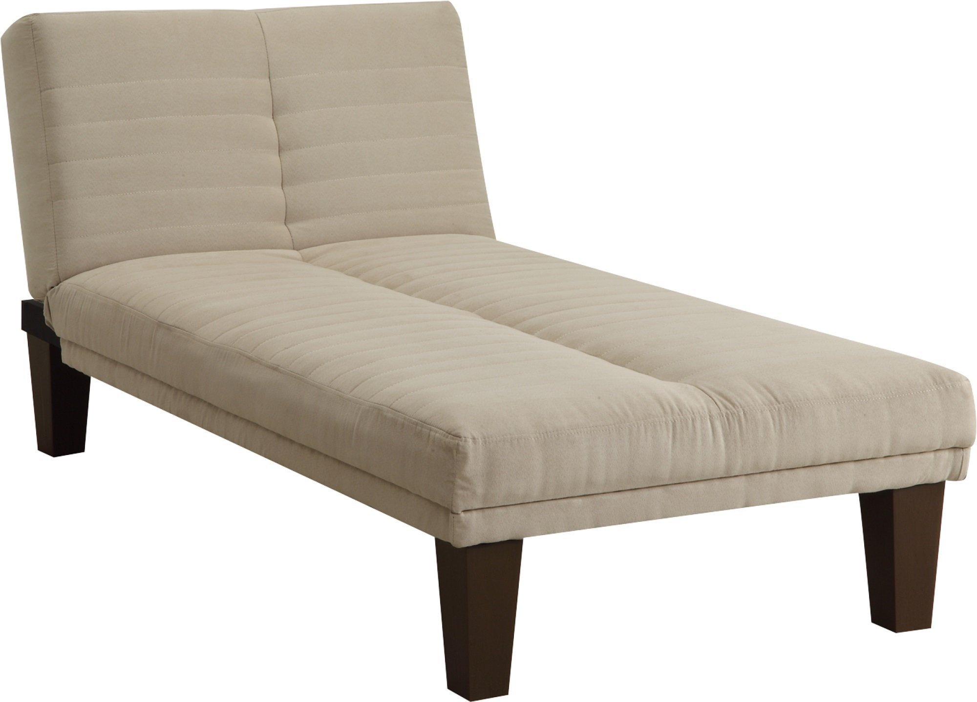 DHP Dillan Chaise Lounger with Microfiber Upholstery and Wood Legs - Tan