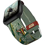 Star Wars - Boba Fett Smartwatch Band - Officially Licensed, Compatible with Apple Watch (not Included) - Fits 38mm, 40mm, 42