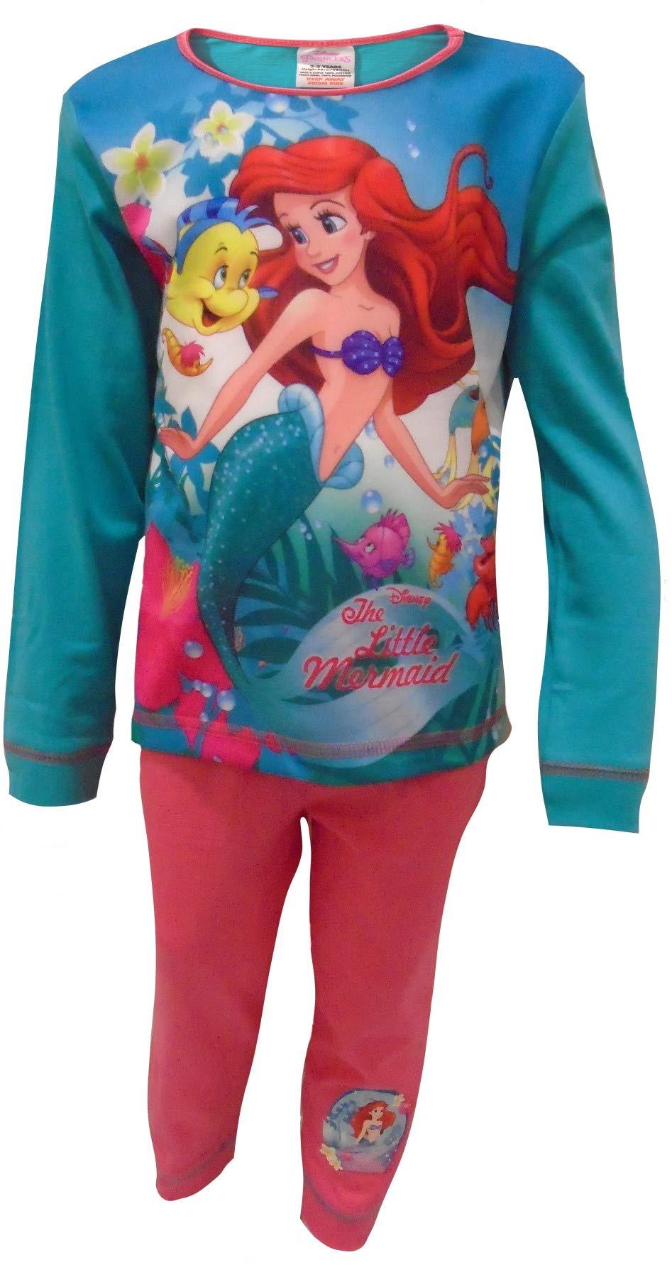 Girls Little Mermaid Ariel Disney Pyjamas PJs Nightwear Disney Princess 4-10 Yr
