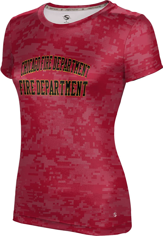 ProSphere Women's Chicago Fire Department Gov-Fire-Police Digital Tech Tee