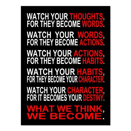 amazon com pyradecor watch your thoughts motivational classroom