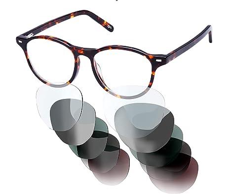 2019 am besten verkaufen neu billig vielfältig Stile Sym Brille mit wählbarer Sehstärke von -4.00 (kurzsichtig) bis +4.00  (weitsichtig) und auswechselbaren Gläser in 6 Farben, für Damen & Herren ...