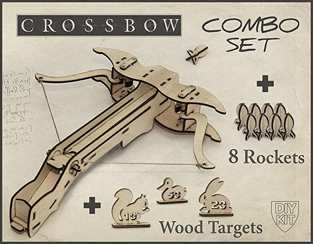 Amazon boyfriend christmas gift diy crossbow kit with 8 rockets boyfriend christmas gift diy crossbow kit with 8 rockets and targets gift for men solutioingenieria Images