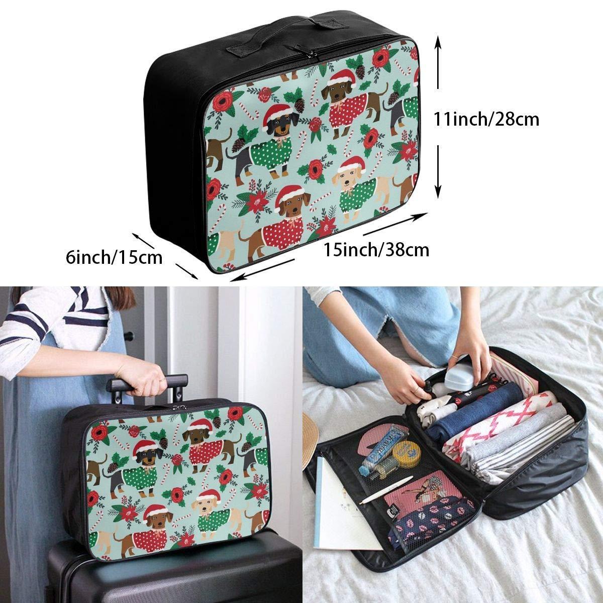 JTRVW Luggage Bags for Travel Travel Duffel Bag Waterproof Fashion Lightweight Large Capacity Portable Duffel Bag for Men /& Women Christmas Sweaters Cute Dachshunds