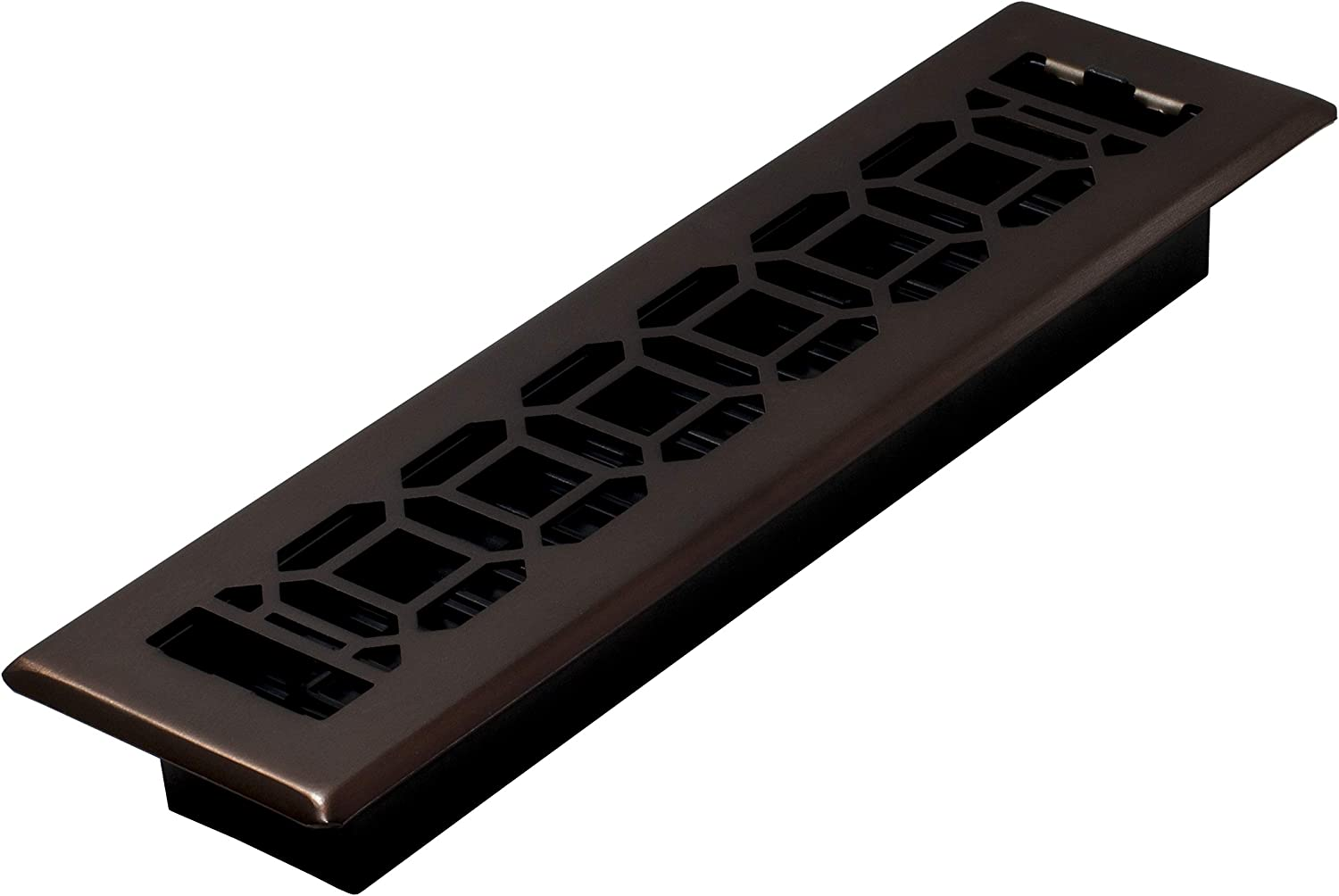 Decor Grates NGH212-RB Floor Register, 2 x 12, Rubbed Bronze