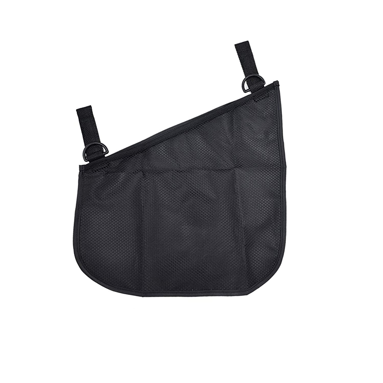 Portable Side Sling Stroller Cargo Net ,Non-Slip and Adjustable Straps Storage Mesh Bag ,Food Storage ,Friut Storage Bag for Baby Stroller Cargo Mesh Bag Storage