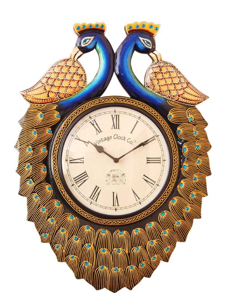 Buy vintage clock handicraft double side wall clock online at low buy vintage clock handicraft double side wall clock online at low prices in india amazon amipublicfo Images