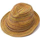 WINOMO Women Girls Wide Brim Bowknot Summer Beach Sun Visor Straw Hat Cap