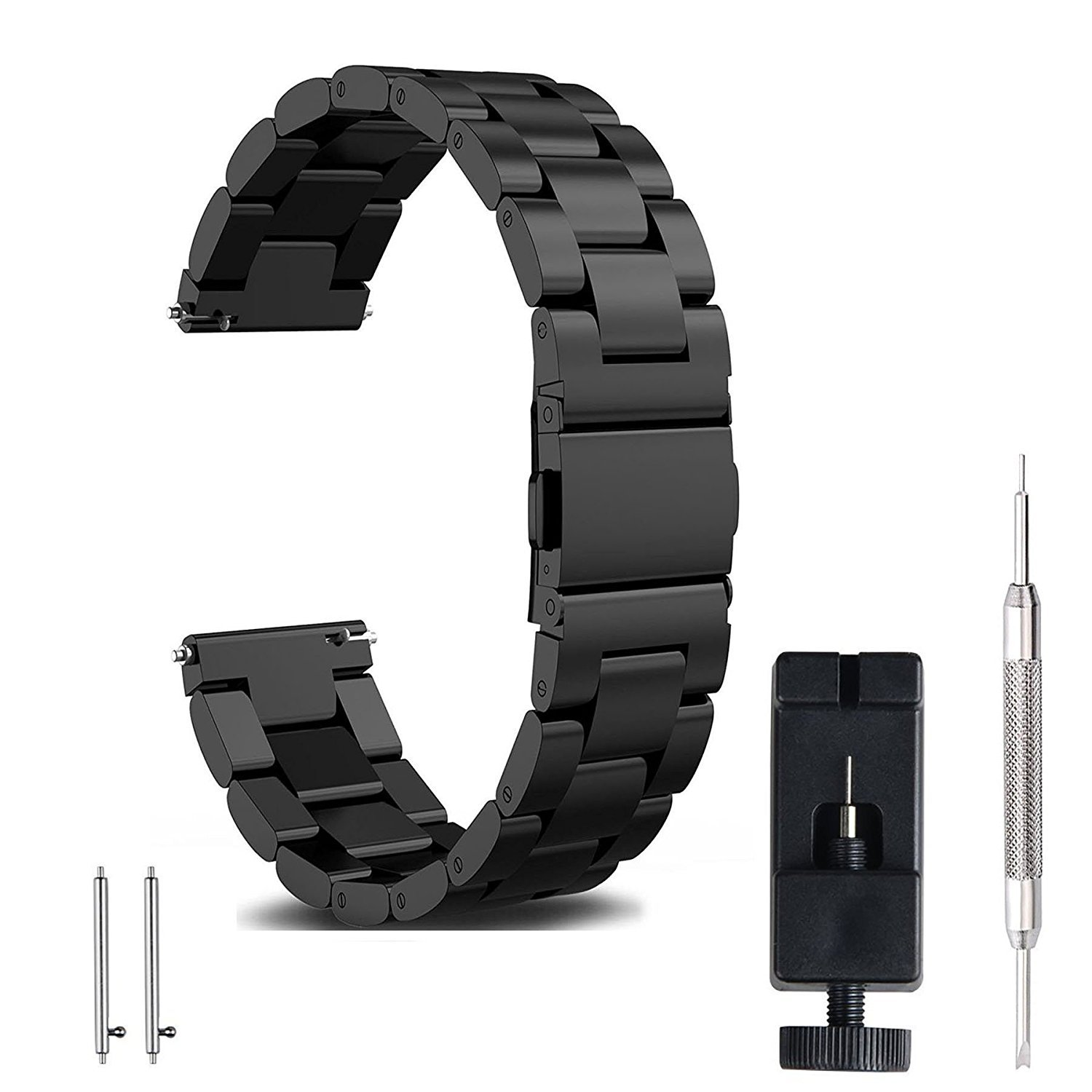 7d2cbd0600 FashionAids 22mm 20mm 18mm watch strap watch band, Stainless Steel Band  Strap Metal Replacement Band Bracelet Strap + Tools + Pins for Men's  Women's Watch, ...