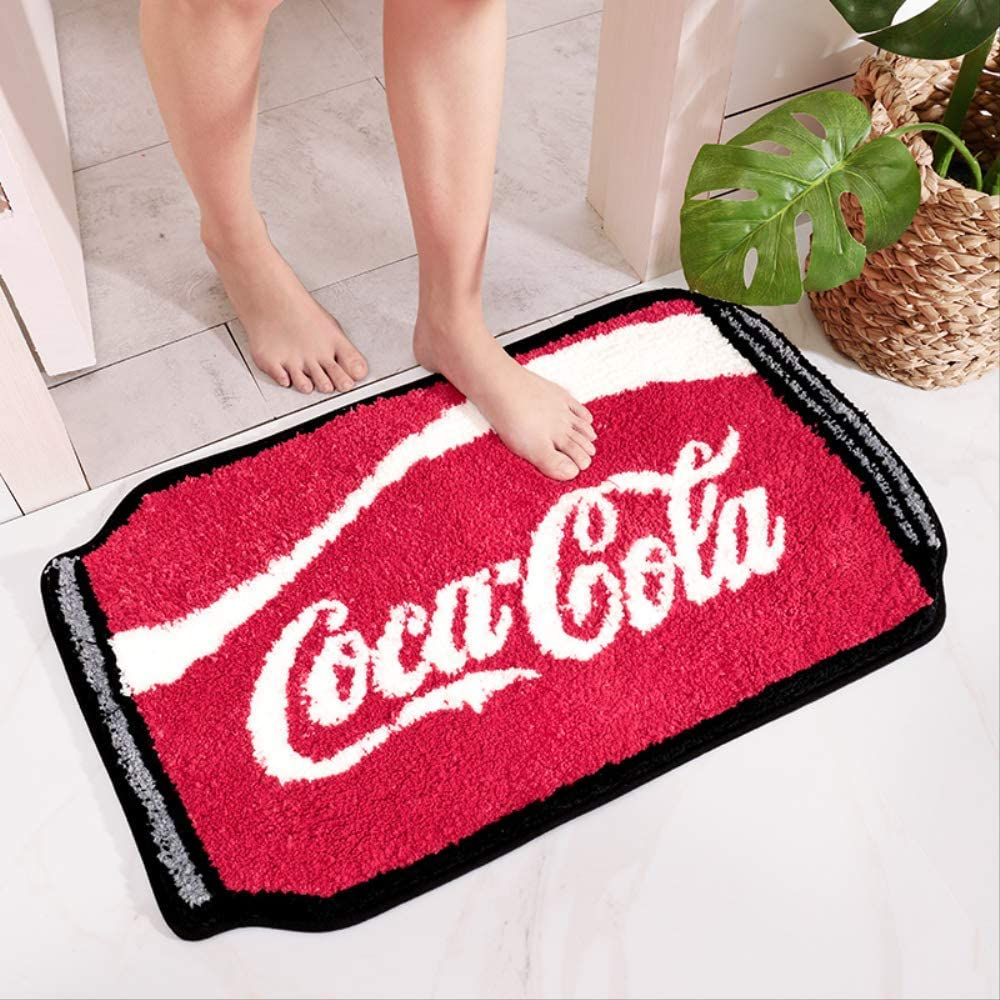 Bathroom Non-Slip Floor Mat Footrest Home Bedroom Living Room A Coca - cola