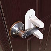 Door Lever Lock (2 Pack) Child Proof Doors U0026 Handles 3M Adhesive   Child