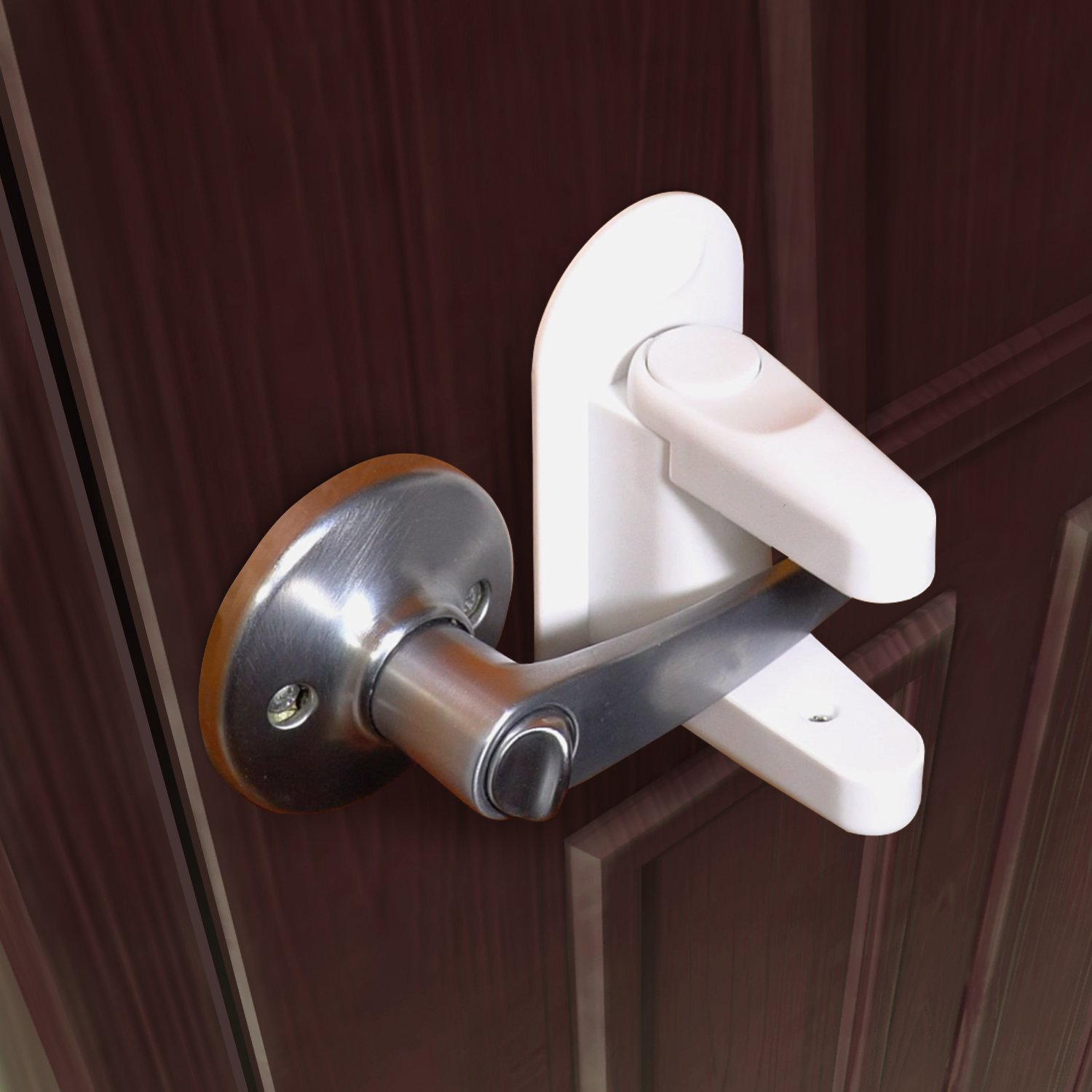 Safety 1st lever handle lock off white cream - Door handles with locks for bedrooms ...