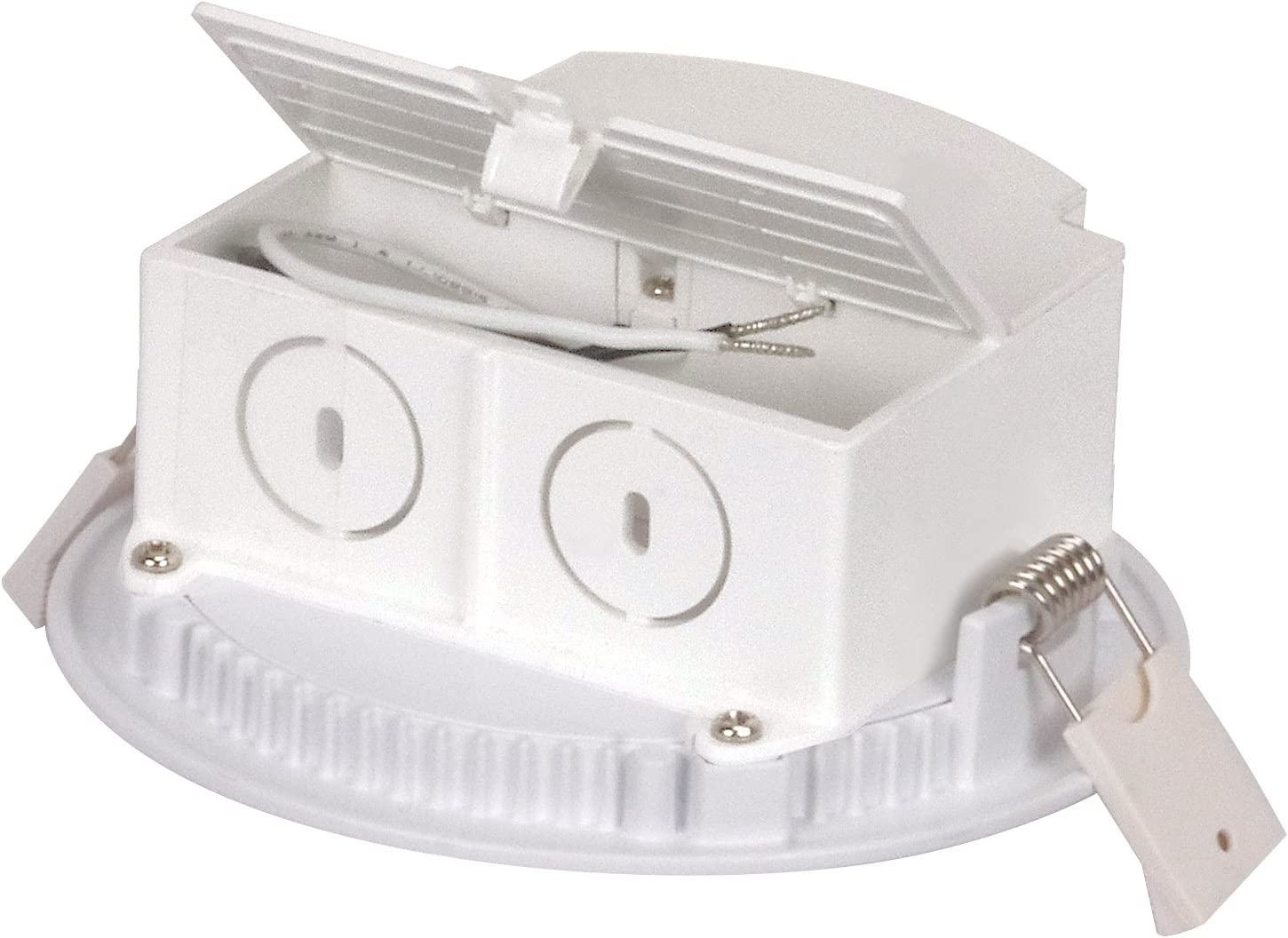 6 inch Low Profile Satco S9061 LED Edge-Lit Downlight with Integrated IC Rated J-Box for Direct Wire