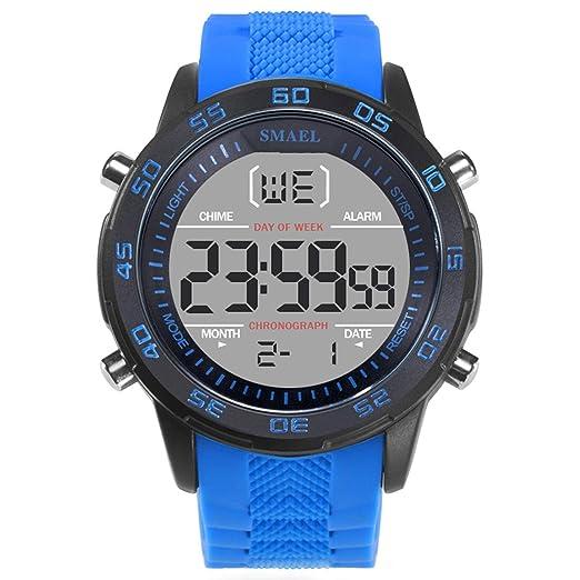 AnazoZ Reloj Hombre SiliconaReloj Hombre Moda Reloj Hombre Reloj de Pulsera Relojes Electronicos Azul: Amazon.es: Relojes