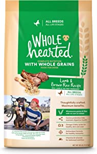 WholeHearted Lamb & Brown Rice Recipe with Whole Grains Dry Dog Food, 30 lbs.